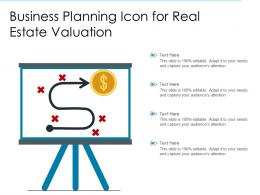 Business Planning Icon For Real Estate Valuation