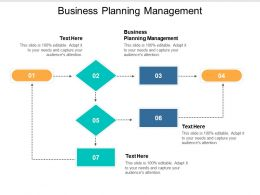 Business Planning Management Ppt Powerpoint Presentation Infographic Template Maker Cpb