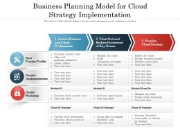 Business Planning Model For Cloud Strategy Implementation