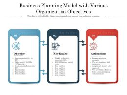 Business Planning Model With Various Organization Objectives