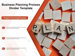 Business Planning Process Divider Template