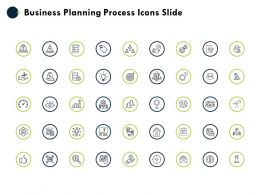 Business Planning Process Icons Slide Idea Bulb Big Data D77 Ppt Powerpoint Presentation