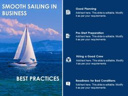 Business Planning Smooth Sailing Success Growth Strategy