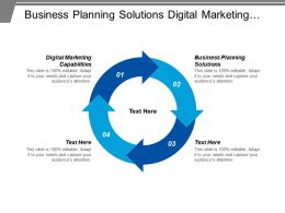 Business Planning Solutions Digital Marketing Capabilities Engagement Management Plan Cpb