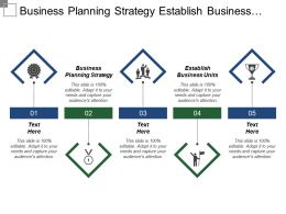 Business Planning Strategy Establish Business Units Marketing Strategies