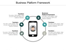 Business Platform Framework Ppt Powerpoint Presentation Outline Portfolio Cpb