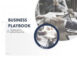 Business Playbook Powerpoint Presentation Slides