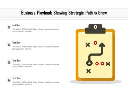 Business Playbook Showing Strategic Path To Grow