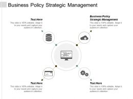 Business Policy Strategic Management Ppt Powerpoint Presentation Professional Rules Cpb