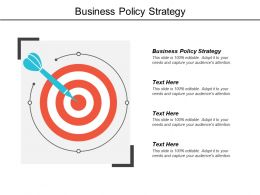 Business Policy Strategy Ppt Powerpoint Presentation Icon Cpb