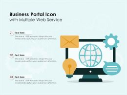 Business Portal Icon With Multiple Web Service
