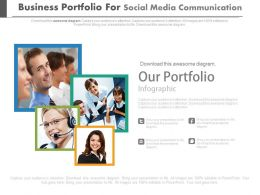 Business Portfolio For Social Media Communication Flat Powerpoint Design