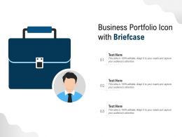 Business Portfolio Icon With Briefcase