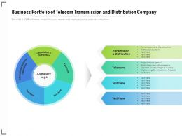Business Portfolio Of Telecom Transmission And Distribution Company