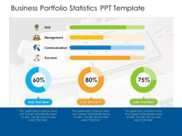 Business Portfolio Statistics PPT Template