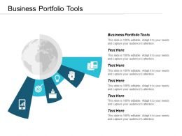 Business Portfolio Tools Ppt Powerpoint Presentation Professional Clipart Images Cpb