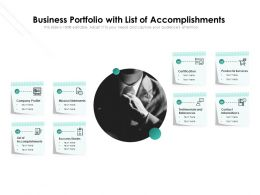 Business Portfolio With List Of Accomplishments