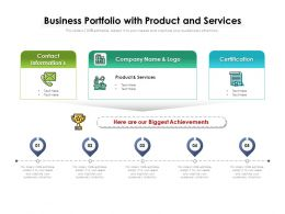 Business Portfolio With Product And Services