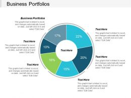 Business Portfolios Ppt Powerpoint Presentation Gallery Background Cpb