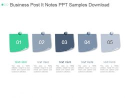 Business Post It Notes Ppt Samples Download