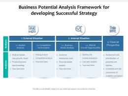 Business Potential Analysis Framework For Developing Successful Strategy