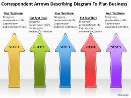 Business Power Point Correspondent Arrows Describing Diagram To Plan Powerpoint Templates