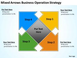 Business Power Point Mixed Arrows Operation Strategy Powerpoint Slides 0522