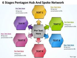 business_powerpoint_examples_6_stages_pentagon_hub_and_spoke_network_slides_Slide01