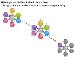 Business Powerpoint Examples 6 Stages Pentagon Hub And Spoke Network Slides