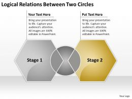 Business Powerpoint Examples Between Two Circles Templates PPT Backgrounds For Slides