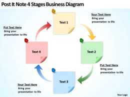 business_powerpoint_examples_post_it_note_4_stages_diagram_templates_Slide01