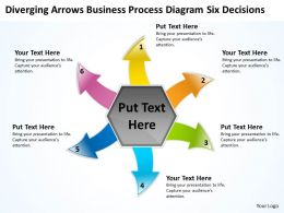 business powerpoint presentations process diagram six decisions Cycle Flow Chart Slides
