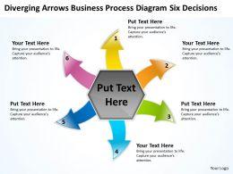 business powerpoint presentations process diagram six decisions Cycle Flow Chart Slides