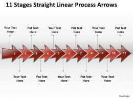 Business PowerPoint Templates 11 state diagram ppt straight linear process arrows Sales Slides