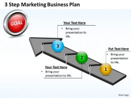 Business PowerPoint Templates 3 step marketing plan Sales PPT Slides