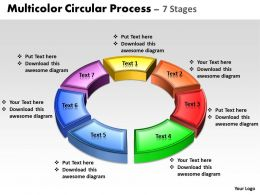 Business PowerPoint Templates 3d animated multicolor circular process Sales PPT Slides