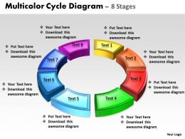 Business PowerPoint Templates 3d animated multicolor cycle diagram Sales PPT Slides