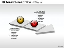 Business PowerPoint Templates 3d arrow linear flow of 2 phase diagram ppt Sales Slides