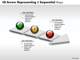 Business PowerPoint Templates 3d arrow representing sequential steps Sales PPT Slides