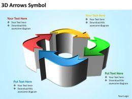Business PowerPoint Templates 3d arrows symbol Sales PPT Slides