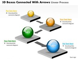 Business PowerPoint Templates 3d boxes connected with arrows linear circular flow Sales PPT Slides