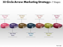 Business PowerPoint Templates 3d circle arrow marketing strategy Sales PPT Slides