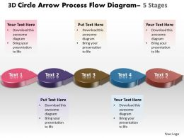 Business PowerPoint Templates 3d circle arrow process flow diagram Sales PPT Slides