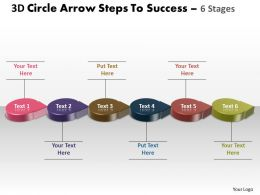 Business PowerPoint Templates 3d circle arrow slide numbers to success Sales PPT Slides