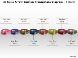 Business PowerPoint Templates 3d circle arrow transactions diagram Sales PPT Slides