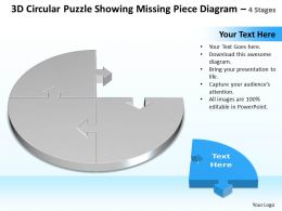 Business PowerPoint Templates 3d circle Problem Solving Puzzle Piece showing missing diagram Sales PPT Slides