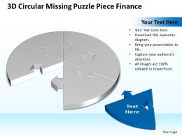 Business PowerPoint Templates 3d circular missing puzzle piece finance Sales PPT Slides