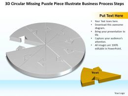 Business PowerPoint Templates 3d circular missing puzzle piece illustrate process steps Sales PPT Slides