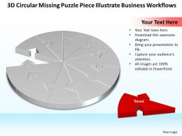 Business PowerPoint Templates 3d circular missing puzzle piece illustrate workflows Sales PPT Slides