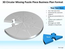 business powerpoint templates 3d circular missing puzzle piece planning sales ppt slides
